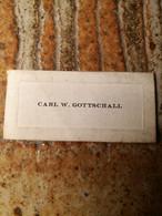 Carl W Gottschall   Au Dos Cleveland - Visitenkarten