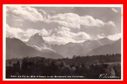 MONTES PIRINEOS -AÑO 1940 POSTAL CON CENSUARA POR EL GOBIERNO CIVIL - Saint Jean Pied De Port
