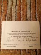 Georges Friboulet 1910/1992. Pianiste Compositeur - Autogramme & Autographen