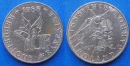 "FRANCE - 10 Francs 1988 ""Roland Garros"" KM# 965 - Edelweiss Coins - Non Classificati"