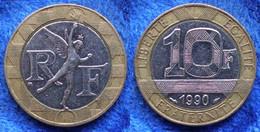 FRANCE - 10 Francs 1990 KM# 964.1 Bi-metallic Fifth Republic - Edelweiss Coins - Non Classificati