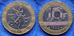 FRANCE - 10 Francs 1992 KM# 964.1 Bi-metallic Fifth Republic - Edelweiss Coins - Non Classificati