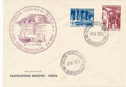 Jugoslavija - 1955 - Dubrovacki Festival Set On Special Cover - Not Sent - Cartas
