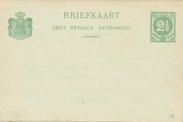 Curacao - 1892 - 2,5+2,5 Cent Cijfer, Briefkaart G10 - Ongebruikt - Curaçao, Nederlandse Antillen, Aruba