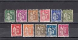 France - Année 1932-33 - N°YT 280/89** - Neuf** - Type Paix - Nuovi
