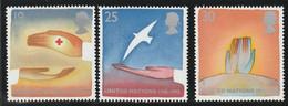 M 466) GB 1995 Mi 1571-1575 **: Rotes Kreuz, D-Day Ende 2. WK, 50 Jahre Vereinte Nationen UN - Unused Stamps
