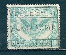 TR 58 Gestempeld NIVELLES EST - Facteur N° 1 - 1915-1921