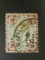 GRANDE BRETAGNE - 1902 - Y&T N°112 - OBLITERE - PERFORE CH - Gebraucht