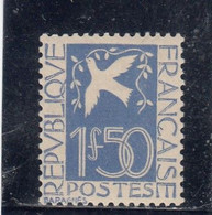 France - Année 1934 - N°YT 294** - Neuf** - Colombe De La Paix - 1fr50 Outremer - Nuovi