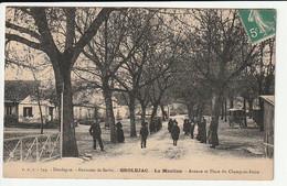 Grolejac La Mouline Avenue Et Place Du Champ De Foire (rare) - Altri Comuni
