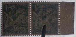 R1098/93 - 1944 - TYPE IRIS - (PAIRE) N°650 NEUF** ➤ Papier Filigrané Sur BdF - Ungebraucht