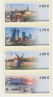 ESTONIA 2020 ATM Set (4v) Visit Estonia, Lighthouse, Wind Mill (self-adhesive Strip Of 4) MNH Midi Set - Estland