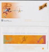 M 730) Frankreich 2004 Ganzsache Umschlag (mit Mi# 3831) *: Olympia Athen, Flamme, Fackellauf - Summer 2004: Athens