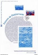 """"""" POISSONS DE MEDITERRANEE """" Sur Document Philatélique Officiel De 2016.  N° YT 5077. Parfait état DPO - Postdokumente"""