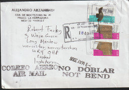 Mexico Registered Cover Posted 2006 To England (G119-54) - Mexico