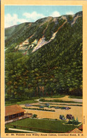 New Hampshire Crawford Notch Mount Webster From Wiley House Cabins Curteich - White Mountains