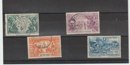 TIMBRES  DIVERS   Du MOYEN  CONGO - N° YT 109  à YT 112  -  OBLITERES -1931 - EXPOSITION COLONIALE - Usati