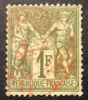 1f 1 N°72 Sage 1f Rouge Des Journaux 23/4/77 - 1876-1878 Sage (Typ I)