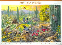 UNITED STATES OF AMERICA 1999 SONORAN DESERT PANE OF 10** (MNH) - Nuovi