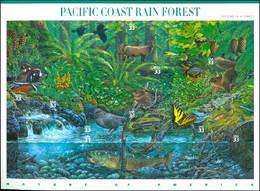 UNITED STATES OF AMERICA 2000 PACIFIC COAST RAIN FOREST PANE OF 10** (MNH) - Nuovi
