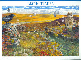 UNITED STATES OF AMERICA 2003 ARCTIC TUNDRA PANE OF 10** (MNH) - Nuovi