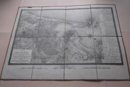 Plan De CADIZ Et De Ses Environs (1823) Imp. Lith ENGELMANN / Scale 1/50.000 (Katoen / Cotton) Ch. Piquet / 60 X 45 Cm.! - Geographical Maps