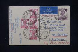 INDE - Entier Postal + Compléments De Jodhpur Pour L'Australie En 1947 Par Avion - L 80236 - 1936-47  George VI