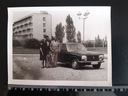 Original Photo.  Boy Man Woman Girl Group Photo Vintage Car PEUGEOT - Automobiles