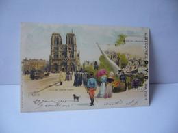 PARIS EGLISE NOTRE DAME QUAI DE L'ARCHEVECHE CPA PUBLCITAIRE 1903 DOS NON DIVISE  EXTRA CHICOREE D.V.C. BAYON - Straßenhandel Und Kleingewerbe