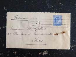 LETTRE GRANDE BRETAGNE GREAT BRITAIN AVEC YT 110 EDOUARD VII - HOPITAL ET DISPENSAIRE FRANCAIS SHAFTESBURY LONDON W.C. - Briefe U. Dokumente