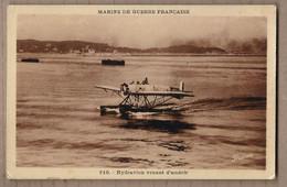 CPA AVIATION - HYDRAVION - MARINE DE GUERRE FRANCAISE - Hydravion Venant D'amérir - TB PLAN + PILOTE - 1946-....: Moderne