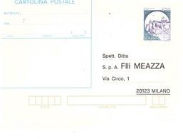 CARTOLINA POSTALE £400 CASTELLI - Stamped Stationery