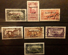 ALAOUITES 1925 - 1926, 7 Timbres Neufs * / O, Yvert No 23,26,28,29,31,32,40, TB - Oblitérés