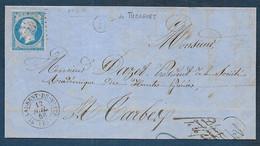 Hautes Pyrénées  -  P. C. 3149 Et Cachet Type 15  ST LAURENT DE NESTE + B De Tuzaguet - 1849-1876: Classic Period