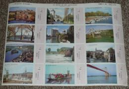 Rare Planche N°1035 De Timbres-vignette à 1 NF, La Seine Et Ses Affluents, Yonne Eure, Scolaire, Caisse D'Epargne - Geografía