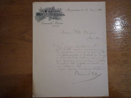 81 MAZAMET - Document Grand Café Continental, Propriétaire Camille BRIEU, 1910 - 1900 – 1949