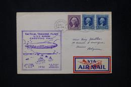 ETATS UNIS - Enveloppe Par Le Dirigeable USS Akron En 1932 De Lakehurst Pour La Belgique - L 80279 - Briefe U. Dokumente