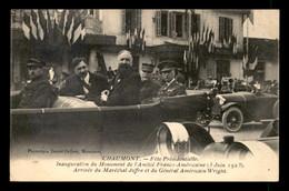52 - CHAUMONT - FETE PRESIDENTIELLE - INAUGURATION DU MONUMENT DE L'AMITIE FRANCO-AMERICAINE 3 JUIN 1923 - Chaumont