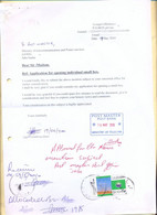 SUDAN 2010 PO Box Application Letter With 2009 Merowe Dam Project Stamp SOUDAN - Sudan (1954-...)
