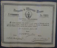 Brazil Companhia De Mineracao Goyana Rio De Janeiro 1885 Uncancelled - Mines