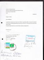 SUDAN 2010 PO Box Application Letter With 2009 Merowe Dam Project Stamp SOUDAN A - Sudan (1954-...)