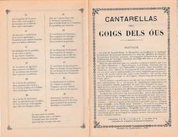 (1899) GOIGS DELS OUS - CANTARELLAS - Chant Religieux Catalan Avec Paroles Et Musique - 27 Couplets - Historische Documenten