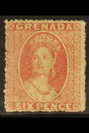 1863-71 6d Rose, Watermark Small Star, Rough Perf 14 To 16, SG 6, Fine Mint With Full Original Gum. For More Images, Ple - Grenada (...-1974)