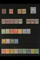 1881-1969 MINT COLLECTION On Stock Pages, Chiefly All Different, Includes 1881 ½d, 1888-91 1d On 8d & 2½d On 8d, 1898 2½ - Grenada (...-1974)