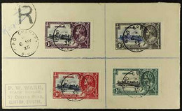 1935 Silver Jubilee Set Used On Registered FIRST DAY COVER, SG 145/8, Clearly Dated Strikes Of Postmarks. For More Image - Grenada (...-1974)
