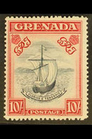 1943 10s. Slate Blue And Bright Carmine (narrow Perf. 14, SG 163b, Fine Never Hinged Mint. For More Images, Please Visit - Grenada (...-1974)
