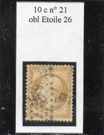 Paris - N° 21 Obl étoile 26 - 1862 Napoleon III