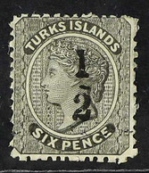 """1881 """"½"""" On 6d Black, Local Surcharge, SG 8, Very Lightly Cancelled. For More Images, Please Visit Http://www.sandafayre - Turks & Caicos"""