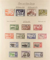1893-1950 VERY FINE MINT COLLECTION Including A Useful KGV Range To 3s And A KGVI COMPLETE RUN (SG 191/223). Fresh And A - Turks & Caicos