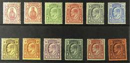 1909-11 Complete Set, SG 115/26, Fine Fresh Mint. (12 Stamps) For More Images, Please Visit Http://www.sandafayre.com/it - Turks & Caicos